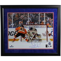 Henrik Lundqvist Signed and Framed Penalty Shot Save vs Danny Briere 2012  Winter Classic Horizontal 16x20 eaacbf070