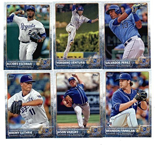 2015 Topps Baseball Cards Kansas City Royals 22 Card Complete Team Set Series 1 And 2 Including Salvador Perez Yordano Ventura Alcides Escobar
