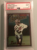 1996 Finest #338 Terrell Owens RC ROOKIE PSA 9 w/ coating HOFer
