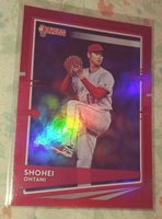 2020 DONRUSS 94 SHOHEI OHTANI VARIATION RED HOLO ANGELS PITCHER / DH