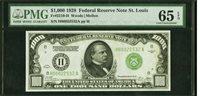$1000 1928 65 PMG St.Louis SUPERB-GEM-BEST,1 of 3 graded Fr.2210 H-Trophy note!
