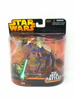 Star Wars Yoda with Can-Cell Fly Into Battle Deluxe Figure MIB