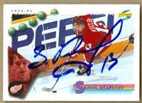 Slava Kozlov Signed Rookie Hockey Card Red Wings