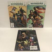 Ultimate Avengers Vol.1 Comic Lot #1, #2, #3 Marvel Comics 2009 Captain America