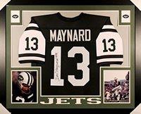 44fa898fd Don Maynard Signed Jets 35x43 Custom Framed Jersey Inscribed