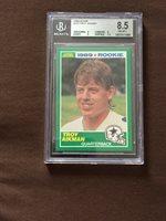 Troy Aikman 1989 Score 270 Rookie Football Card Dallas Cowboys Bgs 85 Nm Mint