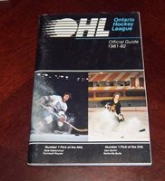 OHL Official Guide 1981-82 cover Dale Hawerchuck # 1 pick of the NHL # 2
