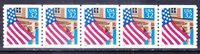 US 2913 MNH 32¢ Flag over Field Shiny Gum PNC 5 Plate No Coil Plate #22222