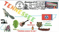 #3602 Greetings From Tennessee Homespun FDC (12220023602001)