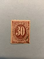 U S stamps Scott #J27..30 Cent..postage due used Great Centering SCV $225.00