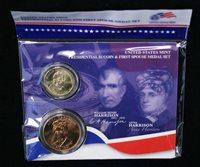 2009 William Henry and Anna Harrison First Spouse Presidential Coin /& Medal Set