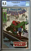 AMAZING SPIDER-MAN #90 CGC 8.5 WHITE PAGES