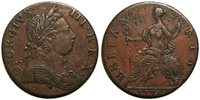 UK 1775 George III Non-Regal Halfpenny