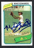 Mike Edwards #301 signed autograph auto 1980 Topps Baseball Trading Card