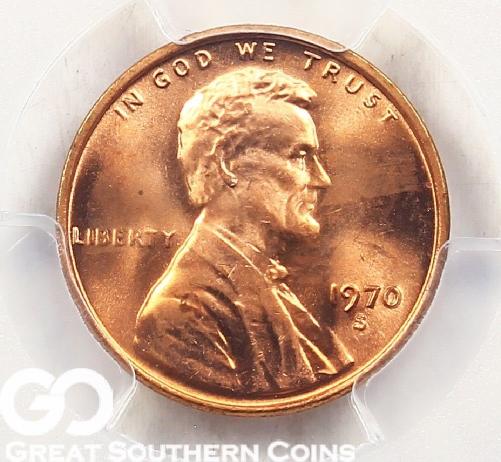 1970-S PCGS Lincoln Memorial Penny, Small Date, PCGS MS 66