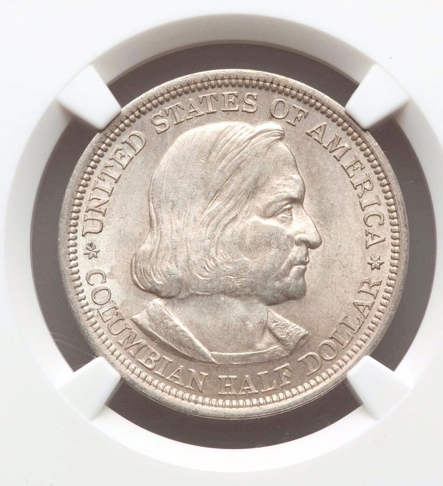 1893 NGC MS64 COLUMBIAN HALF DOLLAR SILVER COMMEMORATIVE