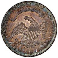 1819 Bust Half Dollar PCGS AU-55 Toned