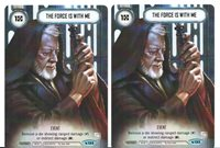 Star Wars Destiny THE FORCE IS WITH ME 2x Alternate Art Promo NM//MINT