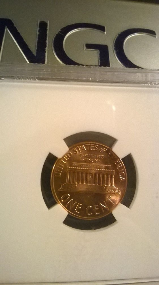1968-D 1C RD Lincoln Cent, NGC MS 65- NGC Price Guide Value $19