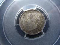 KEY DATE Straits Settlements 5 Cents 1871 PCGS MS62 #A2