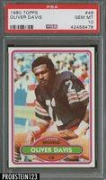 "1980 Topps Football #49 Oliver Davis Cleveland Browns PSA 10 "" PRISTINE """