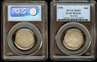 English shilling 1700 PCGS MS64