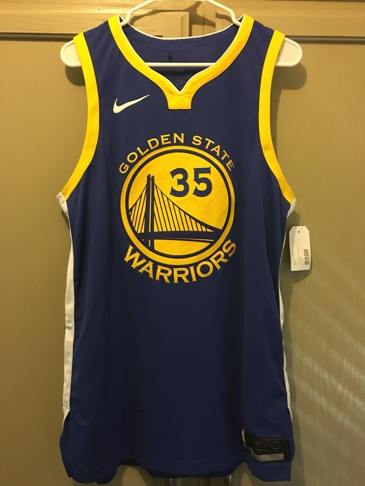 buy popular cfb73 9565b Nike Golden State Warriors Kevin Durant Authentic Jersey sz 48 Large 863022  496