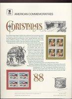 2399-2400 25c Christmas set USPS Cat. #319 Commemorative Panel[cp319]
