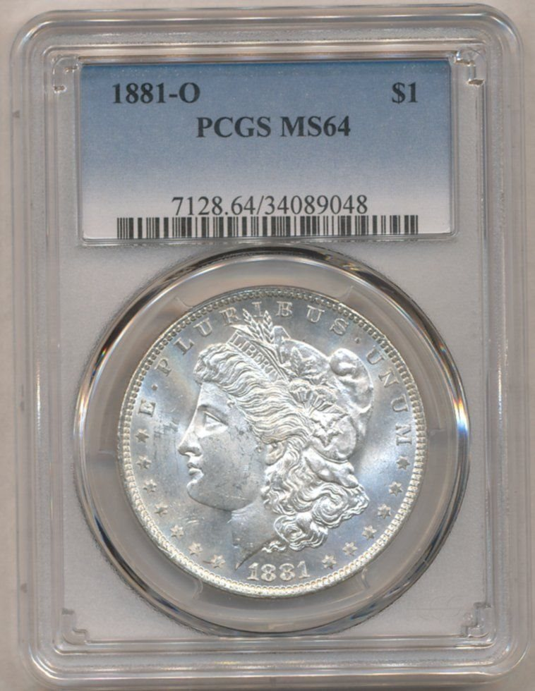 1881-O PCGS MS 62  Morgan Dollar