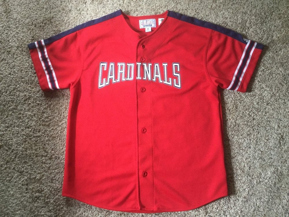 new arrival 9c0ed 6b0ff Starter Mark McGwire Jersey Mens Size XL Red #25 St Louis Cardinals Vintage  EUC