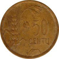 1925 LITHUANIA COIN, 50 CENTU, 1/2 LITAS