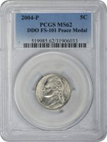 Jefferson Nickel, 2004-P Peace Medal MS - PCGS Auction Prices
