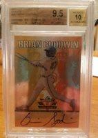 2011 Leaf Valiant draft orange Brian Goodwin bgs 9.5 RC Auto /25 bgs9.5