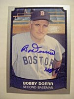 BOBBY DOERR signed RED SOX 1989 Pacific baseball card AUTO Autographed 1937-1951