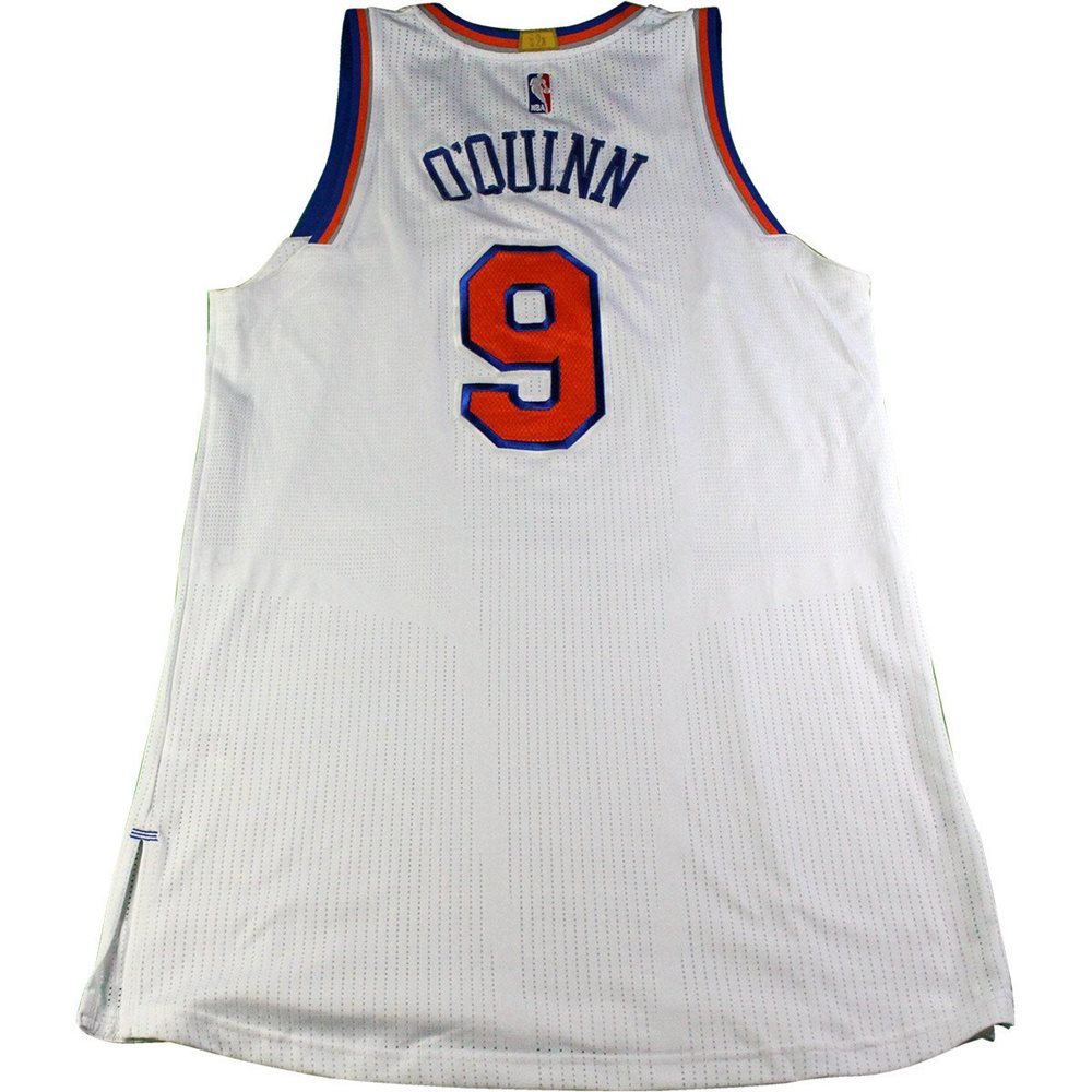 watch b3dc2 e4fd4 Kyle O'Quinn New York Knicks 2016-17 Game Used #9 White Jersey (1/12/2017  vs. Chicago Bulls)(Size 2XL)