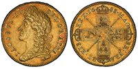 GREAT BRITAIN. England. James II. (King, 1685-1688). 1688 AV Five Guineas. PCGS AU55. 41.68gm. Laureate bust of James II, left / Crowned cruciform shields, sceptres in angles. KM 460.1; SCBC-3397A (Second bust); M.C.E. 119.Lovely original surfaces