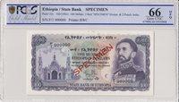 1961 Äthiopien 100 Dollars Haile Selassié Church Pcgs 66 Opq