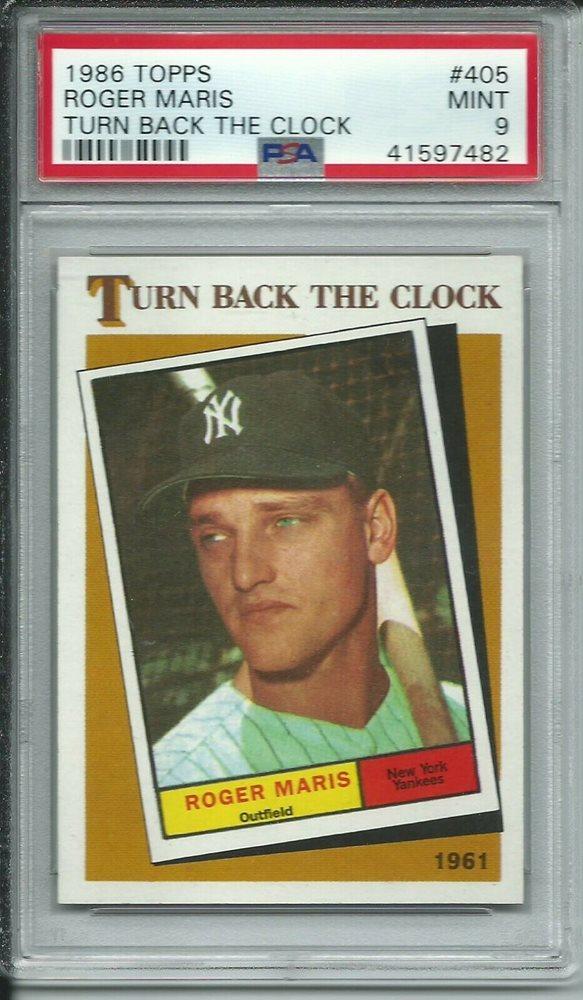 Baseball Cards New York Yankees 1986 Topps #405 Roger Maris 1961 TBC