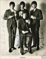 Beatles autograph photo