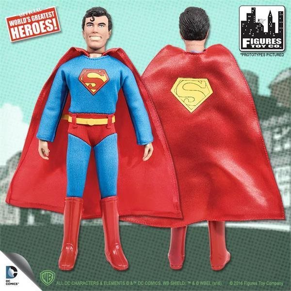 MEGO RETRO SUPERMAN 8 INCH ACTION FIGURE NEW LOOSE IN POLYBAG