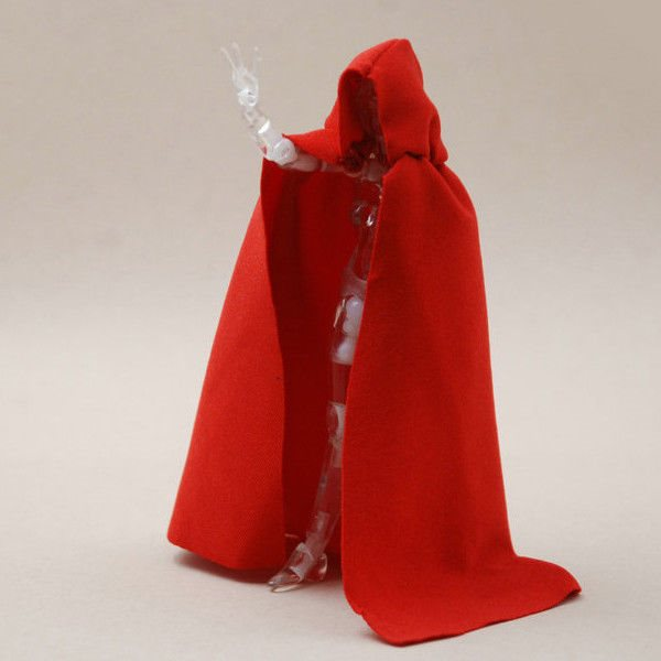no figure 1:12 Scale Red Cape Cloak With Hat For Bandai SHF figma Body Doll