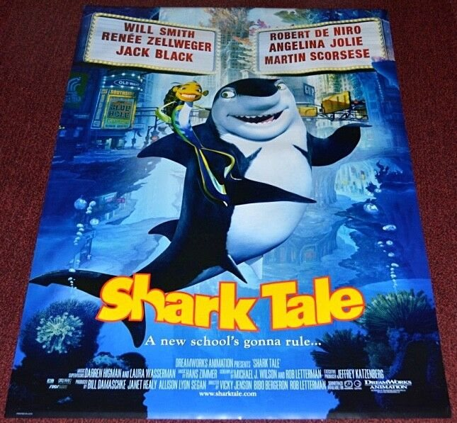 Shark Tale 2004 Orig 27x40 Movie Poster Will Smith
