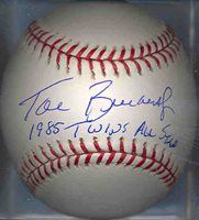 Tom Brunansky 1985 Minnesota Twins All-Star Autographed Signed OML Baseball COA