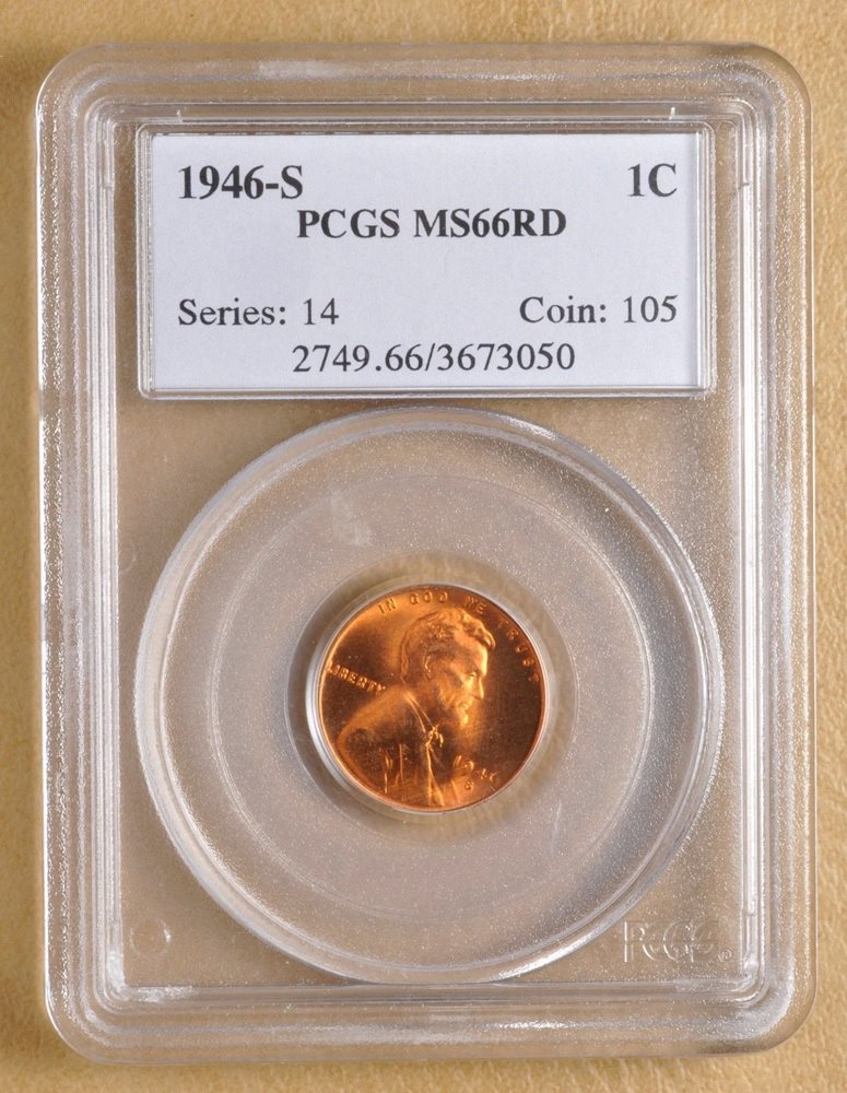 1946 S Lincoln Wheat Penny Pcgs Ms66rd Ms66rd Pcgs Auction Prices Red wrappers, tan wrappers, and/or striped wrappers. 1946 s lincoln wheat penny pcgs ms66rd