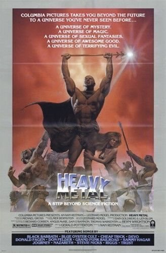 Heavy Metal Original Folded Movie Poster Style B Richar
