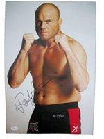 Randy Couture Autgraphed 12x18 COA - JSA Certified - Autographed UFC Photos