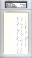 Walton Cruise Autographed 3x5 Index Card Cardinals, Braves PSA/DNA #83862821Walton Cruise Autographed 3x5 Index Card Cardinals, Braves PSA/DNA #83862821