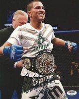Anthony Pettis Signed UFC 20x30 Canvas Photo PSA//DNA COA Belt Picture Autograph