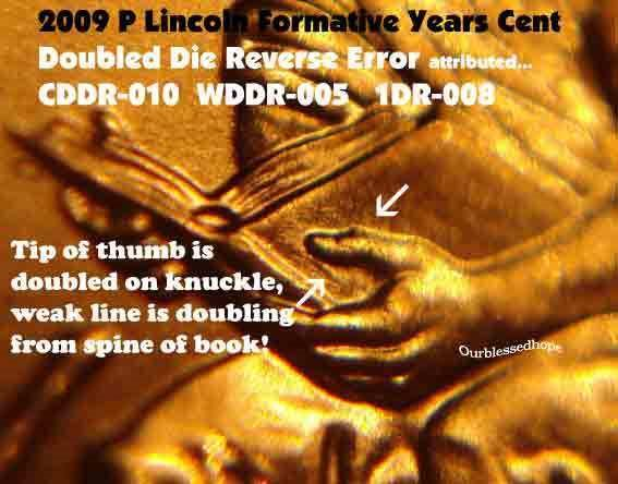 2009 P Lincoln Cent Penny Doubled Die FY WDDR-004 ERROR Coin