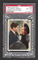 Laurence Olivier Merle Oberon 1940 A&M Wix Cinema Cavalcade #45 PSA 8 NM-MT